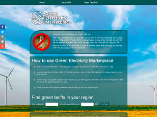 Green Electricity Marketplace website in 2014