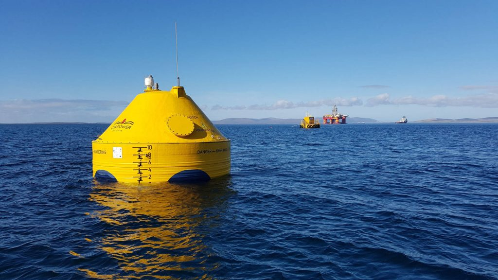 The CorPower C3 wave energy device in Scapa Flow, Orkney [Photo © CorPower Ocean]